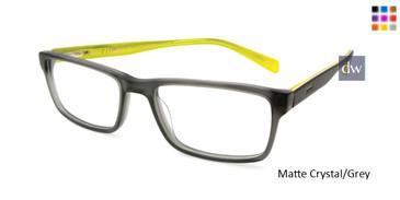 Matte Crystal/Grey Reebok R3013 Eyeglasses.
