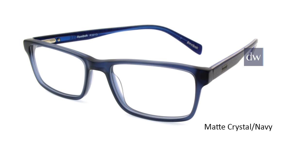 Matte Crystal/Navy Reebok R3013 Eyeglasses