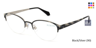 Black/Silver C-Zone U2224 Eyeglasses.