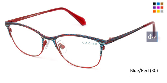 Blue/Red C-Zone U2225 Eyeglasses - Teenager.