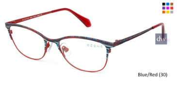 Blue/Red (30) C-Zone U2225 Eyeglasses - Teenager