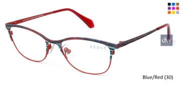 Blue/Red (30) C-Zone U2225 Eyeglasses - Teenager