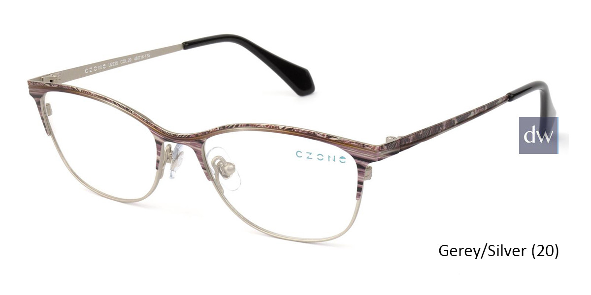 Grey/Silver C-Zone U2225 Eyeglasses - Teenager.
