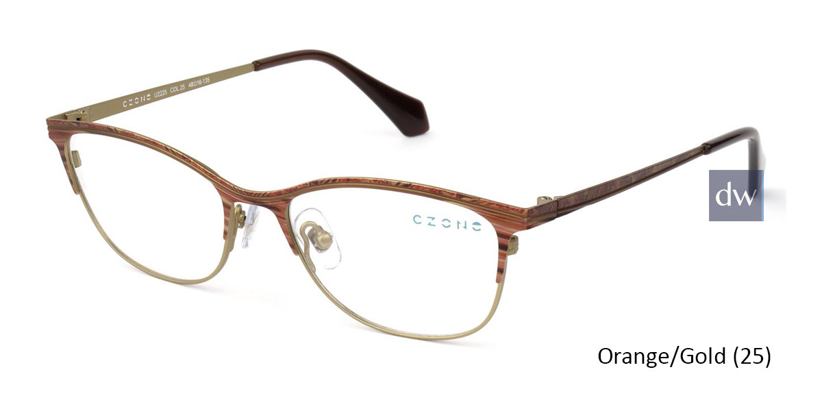 Orange/Gold C-Zone U2225 Eyeglasses - Teenager.