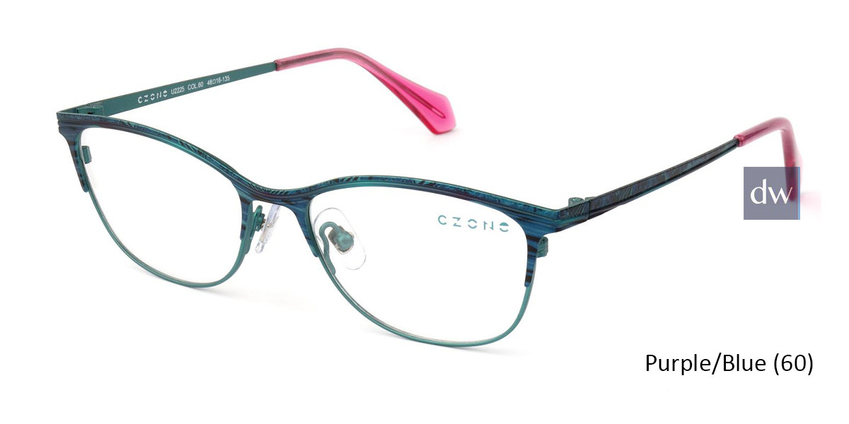 Purple/Blue C-Zone U2225 Eyeglasses - Teenager