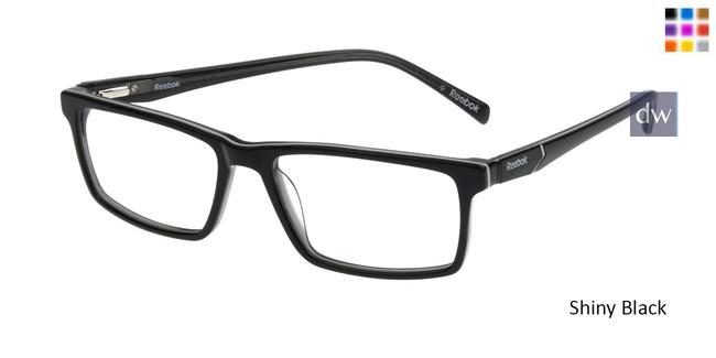 Shiny Black Reebok R3016 Eyeglasses.