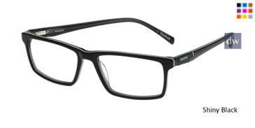 Shiny Black Reebok R3016 Eyeglasses