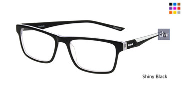 Shiny Black Reebok R3018 Eyeglasses.