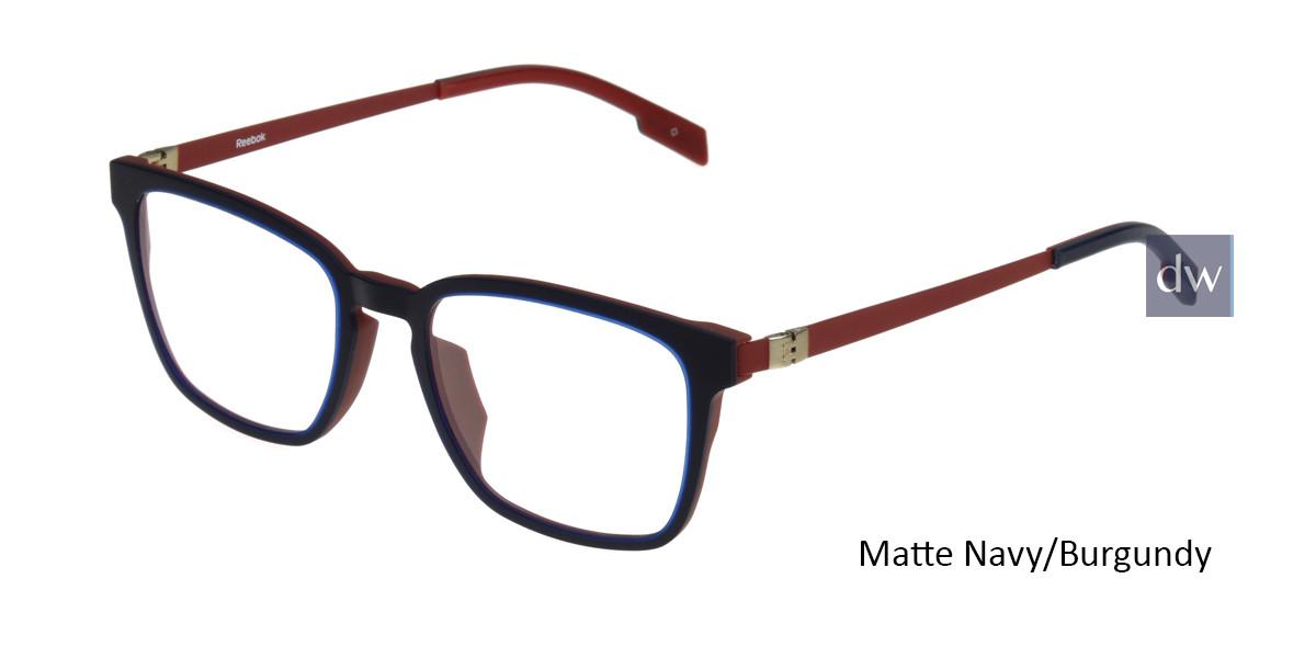 Matte Navy/Burgundy Reebok R9003 Eyeglasses