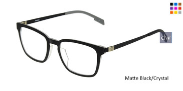 Matte Black/Crystal Reebok R9004 Eyeglasses.