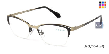 Black/Gold (90) C-Zone U2226 Eyeglasses - Teenager