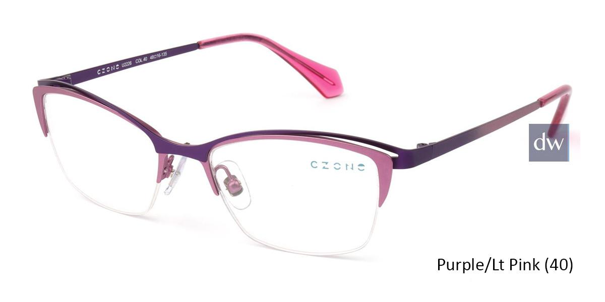 Purple/Lt Pink (40) C-Zone U2226 Eyeglasses - Teenager