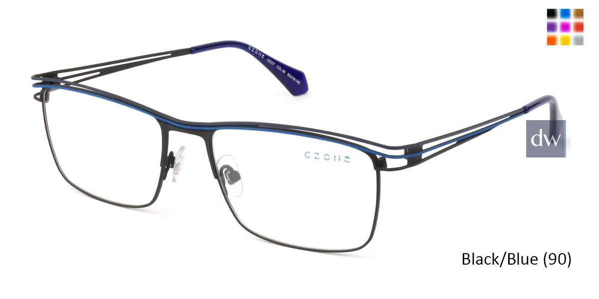 Black/Blue (90) C-Zone U2227 Eyeglasses