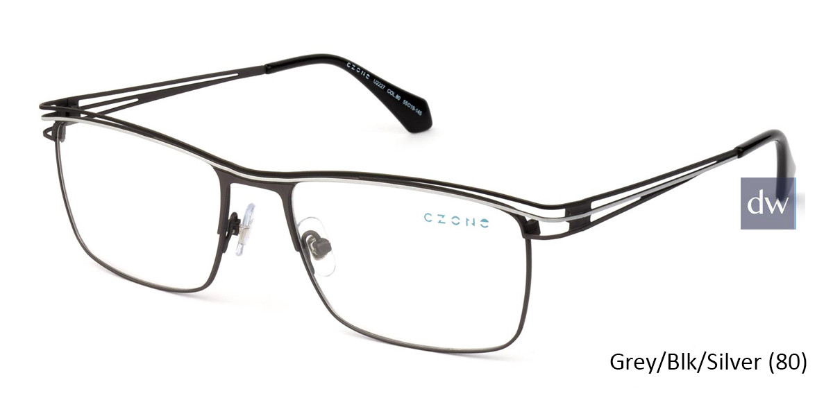 Grey/Blk/Silver (80) C-Zone U2227 Eyeglasses