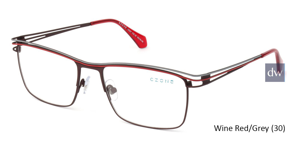 Wine Red/Grey (30) C-Zone U2227 Eyeglasses