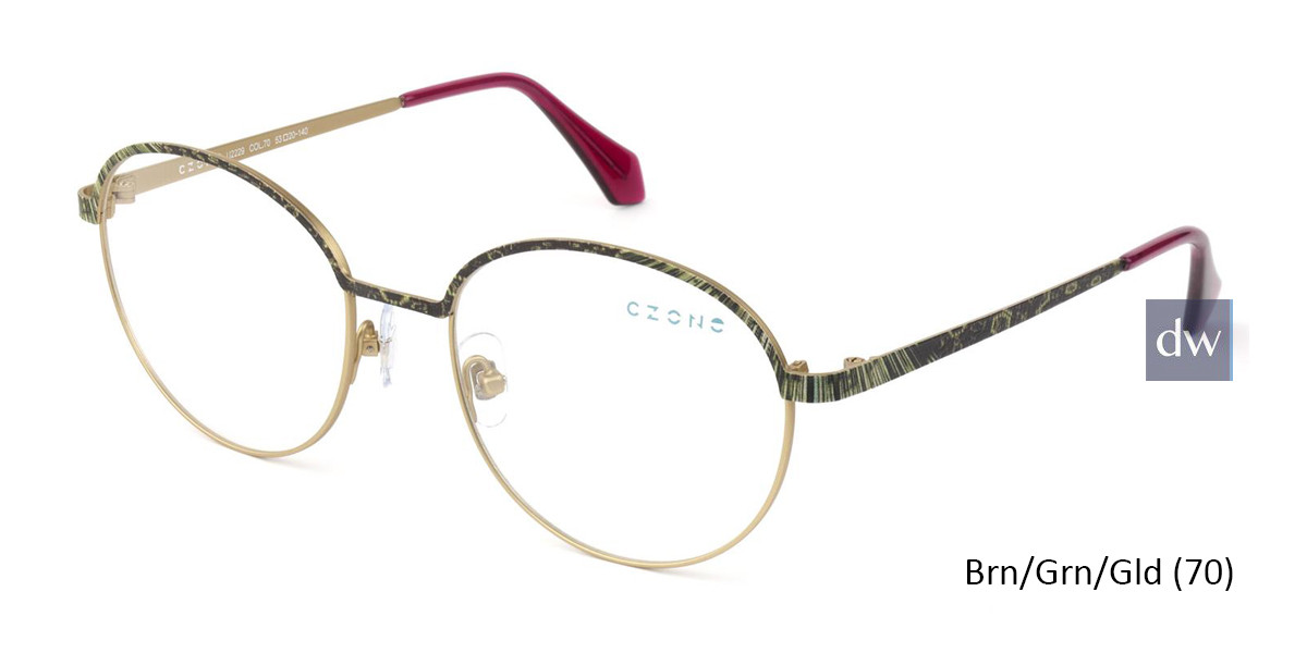 Brn/Grn/Gld (70) C-Zone U2229 Eyeglasses