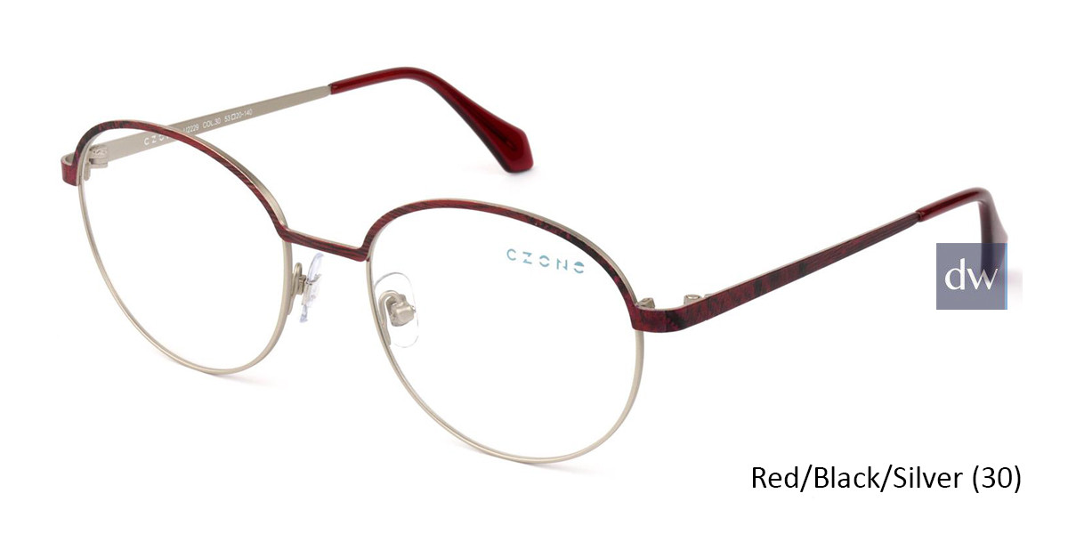 Red/Black/Silver C-Zone U2229 Eyeglasses