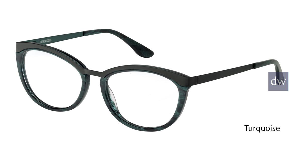 Turquoise Corinne McCormack Bowery Eyeglasses.