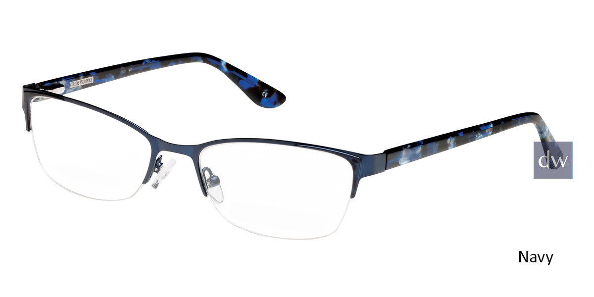 Navy Corinne McCormack CarnegieHill Eyeglasses.