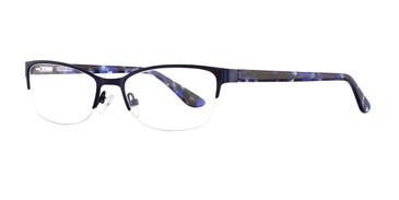 Navy Corinne McCormack Carnegie Hill Eyeglasses.