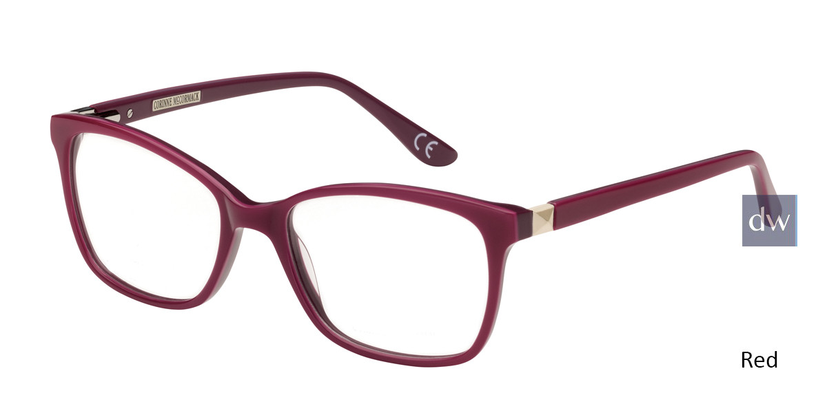 Red Corinne McCormack Amsterdam Eyeglasses.