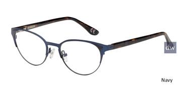 Navy Corinne McCormack Hester eyeglasses.
