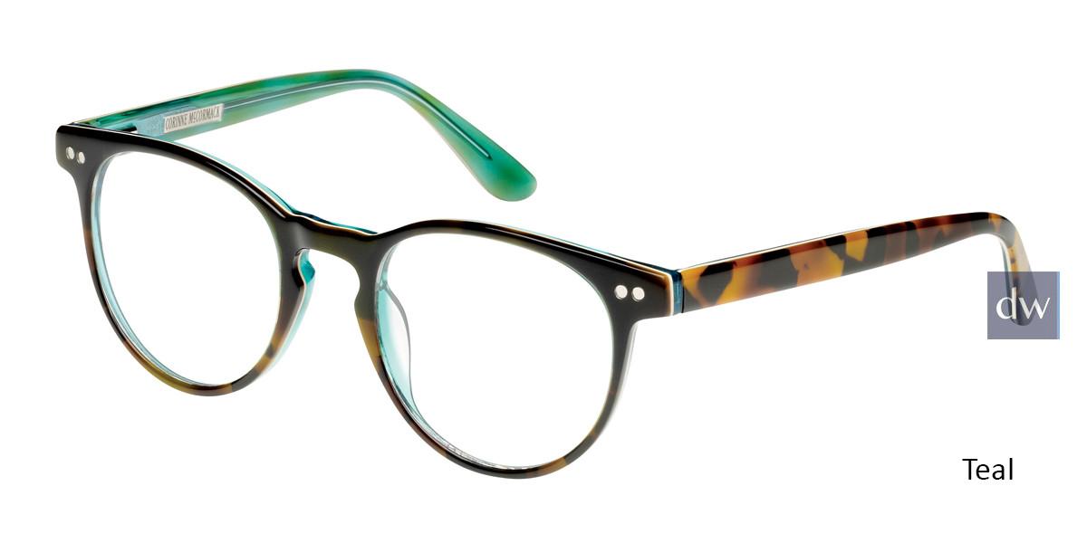 Teal Corinne McCormack Thompson Eyeglasses.