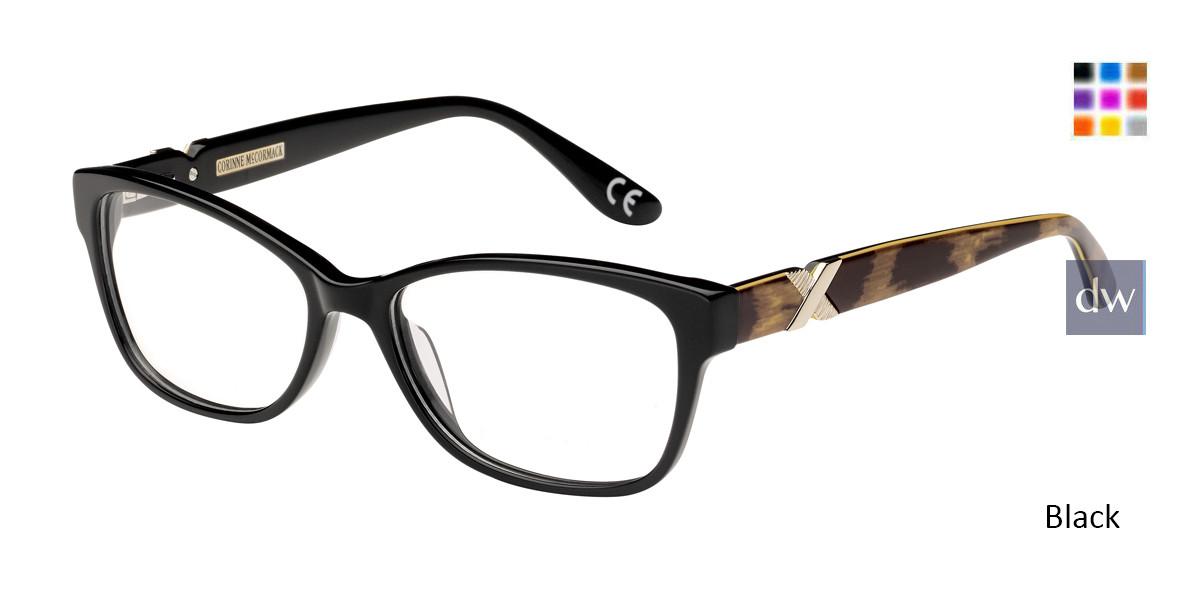 Black Corinne McCormack Tudor City Eyeglasses.