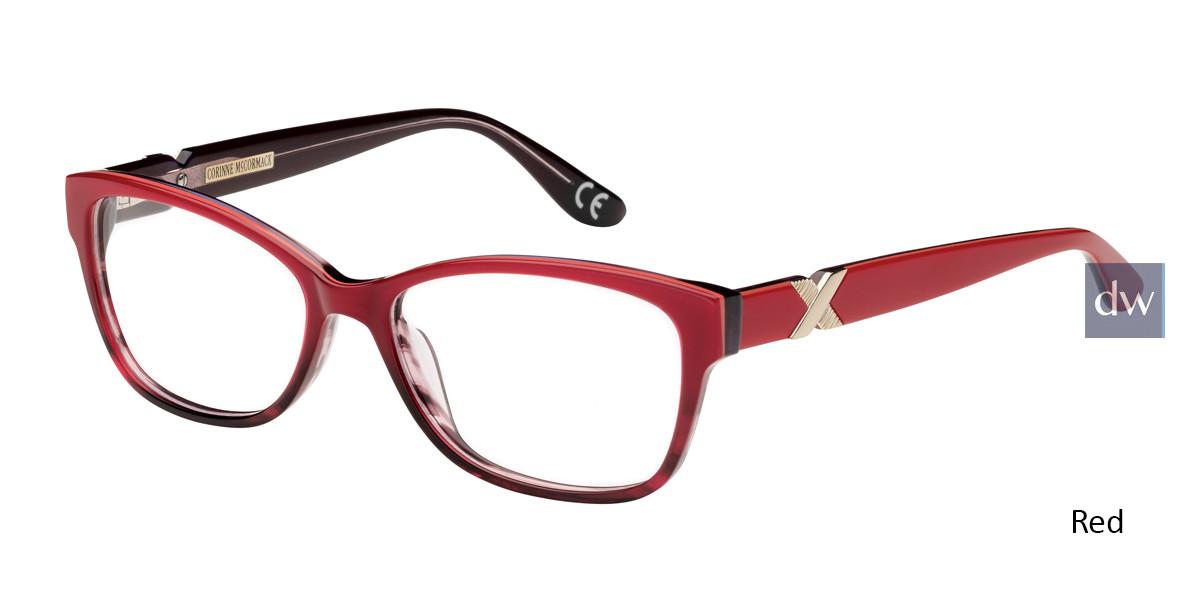 Red Corinne McCormack Tudor City Eyeglasses.