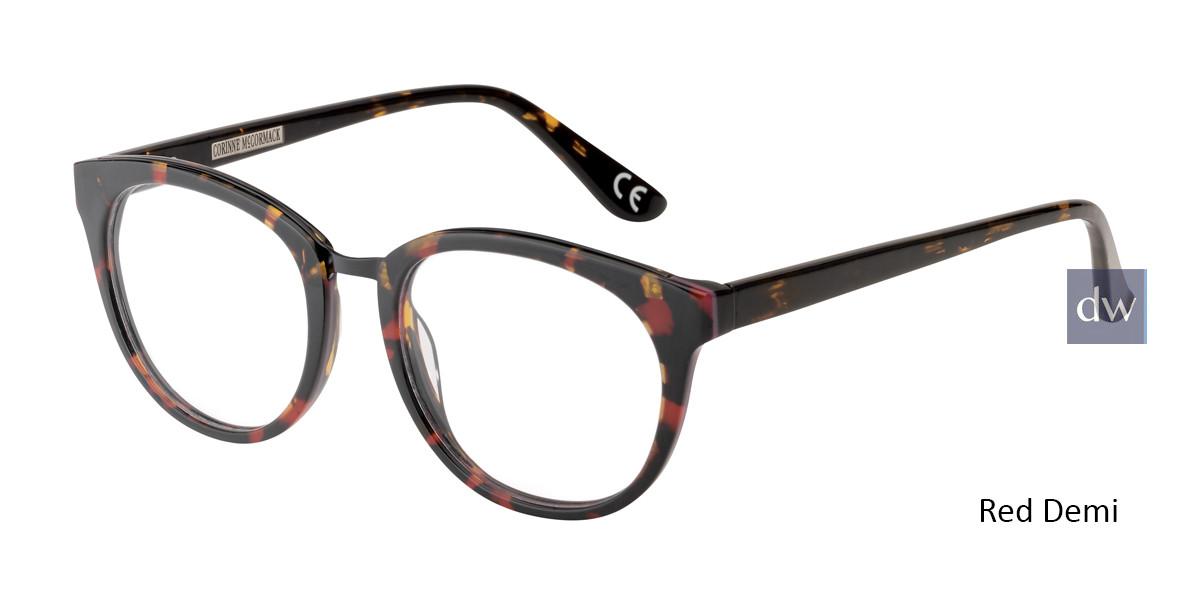 Red Demi Corinne McCormack Ludlow Eyeglasses.