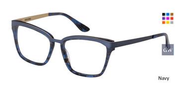 Navy Corinne McCormack Orchard Eyeglasses.