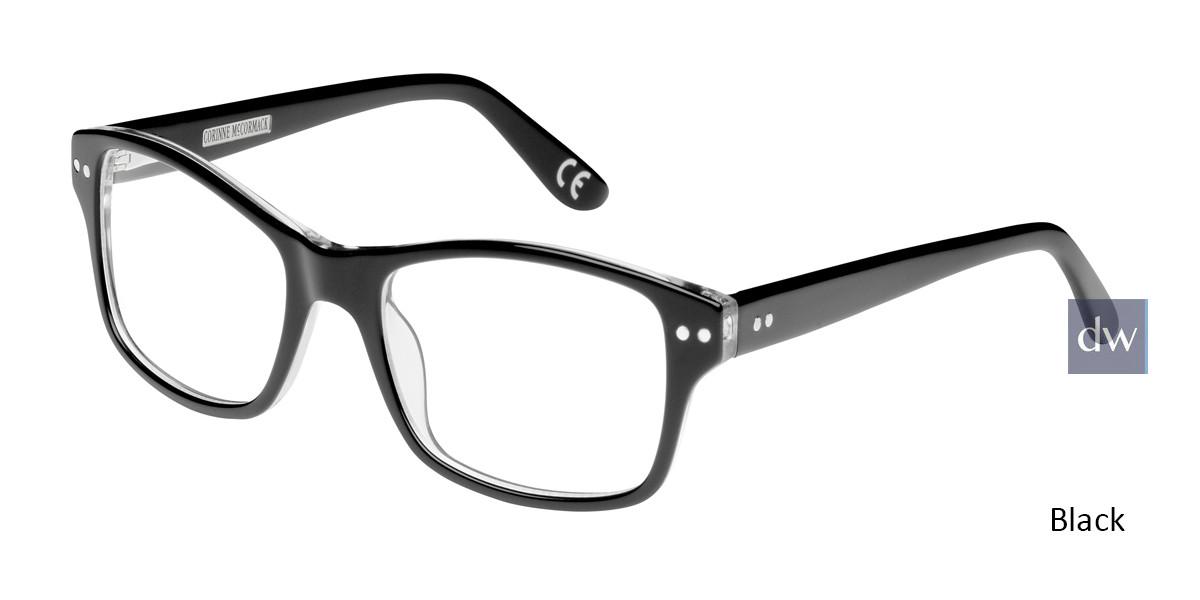 Black Corinne McCormack Rivington Eyeglasses.