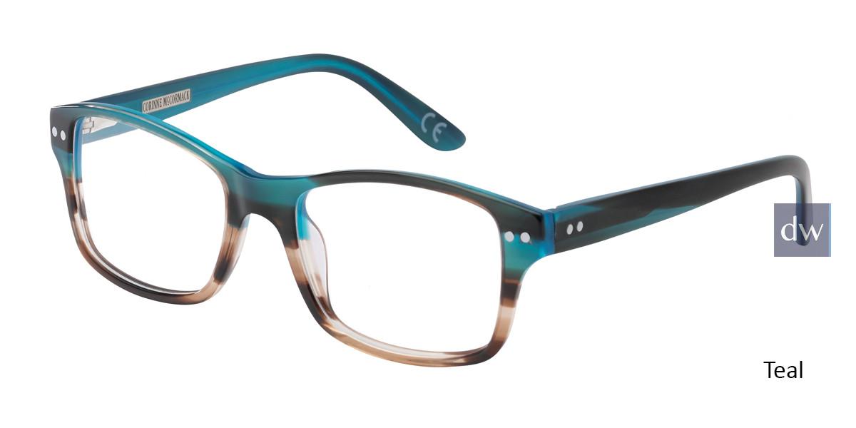 Teal Corinne McCormack Rivington Eyeglasses.
