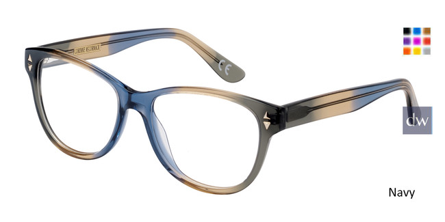 Navy Corinne McCormack Sutton Place Eyeglasses.