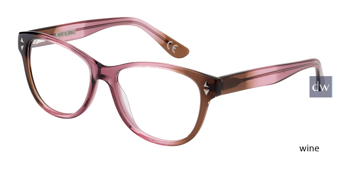 Wine Corinne McCormack Sutton Place Eyeglasses.
