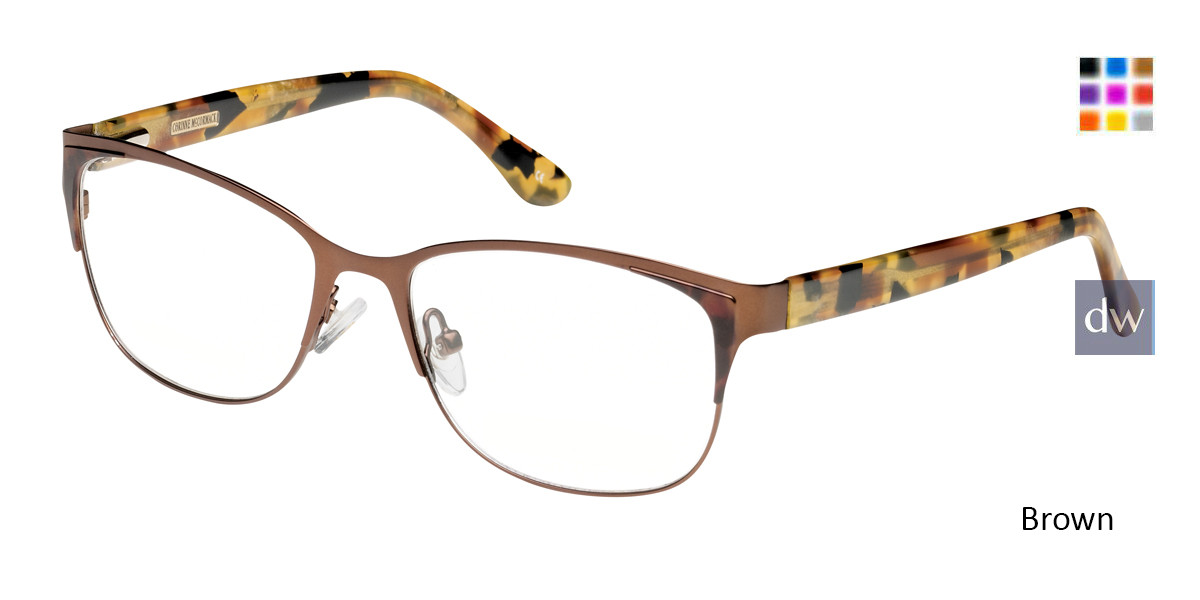 Brown Corinne McCormack Union Square Eyeglasses.