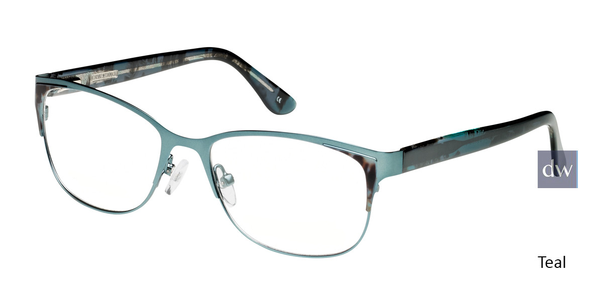 Teal Corinne McCormack Union Square Eyeglasses.