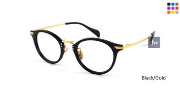 Black/Gold William Morris London WM50029 Eyeglasses - Teenager.