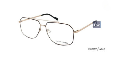 Brown/Gold William Morris London WM50046 Eyeglasses.
