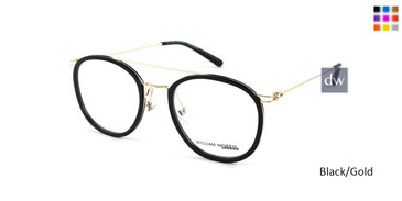 Black/Gold William Morris London WM50072 Eyeglasses.