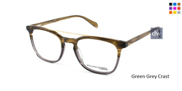 Green Grey Crystal William Morris London WM50082 Eyeglasses.