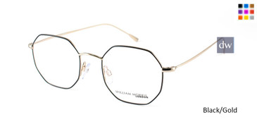 Black/God William Morris London WM50087 Eyeglasses - Teenager.