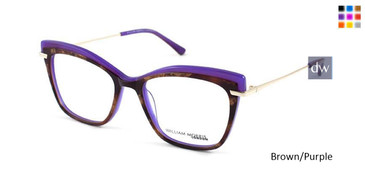 Brown/Purple William Morris London WM50091 Eyeglasses.