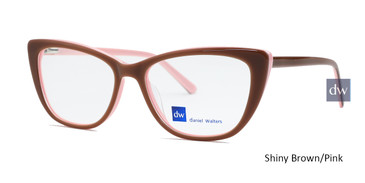 Shiny Brown/Pink Daniel Walters LG013 Eyeglasses.