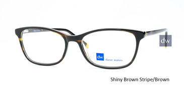 Shiny Brown Stripe/Brown Daniel Walters RGA019 Eyeglasses.