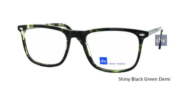 Shiny Black Green Demi  Daniel Walters CB5187 Eyeglasses