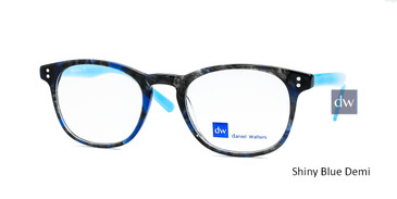 Shiny Blue Demi Daniel Walters RGA037 Eyeglasses - Teenager.