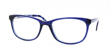Shiny Blue/Blue Demi Daniel Walters LG026 Eyeglasses.