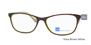 Shiny Brown Yellow Daniel Walters CB5196 Eyeglasses.