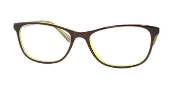 Shiny Brown Yellow Daniel Walters CB5196 Eyeglasses.